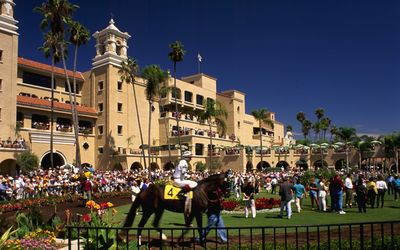 The Del Mar Race Track and Fairgrounds are right across the street