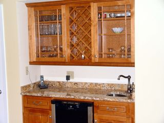 Pensacola Beach condo photo - Bar with wine cooler.