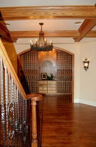 Custom, Handmade Wine Cellar, with gathering room