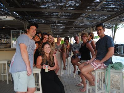 Fun at Cova Bar, Avithos Beach