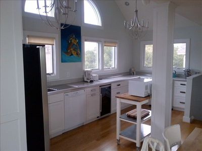 Beautiful and Light Filled.  Additional beverage cooler and convection oven.