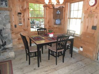 White Cloud cabin photo - Main cabin - dining area...