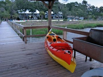 Explore the rivers on two kayaks provided at Salt Crest