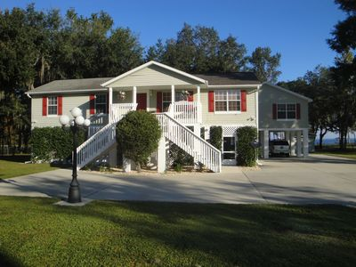 Palatka house rental - NEW 6bed/2bath/WATERFRONT/2 DOCKS/ CANOE/boatRAMP/6 TV/WIFI/CABLE/SLEEP
