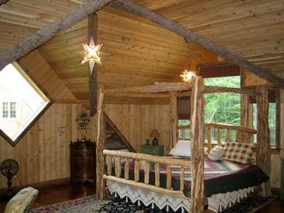 Lake Placid chalet photo - King Bed
