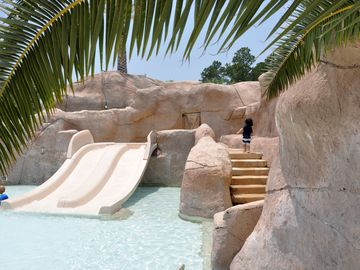 Kiddie slide at the Oasis