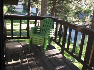 Mammoth Lakes condo photo - Relax and enjoy the views or BBQ on the oversized deck