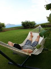 Terceira Island house photo - relaxing in the back yard on the hammock
