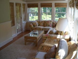 Falmouth house photo - Bright and lovely sunroom.