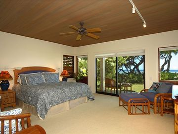 The Kona Master Suite: outdoor seating, ocean view, private open air shower