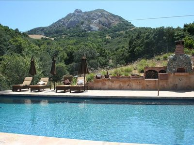 Swim in our 50'x22' pool or hike Bishop's Peak in the background.