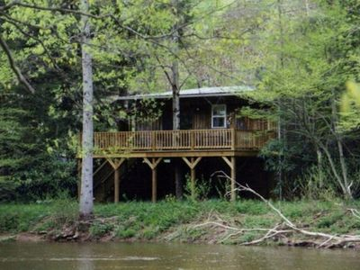 View of Cottage from across the Shavers Fork River