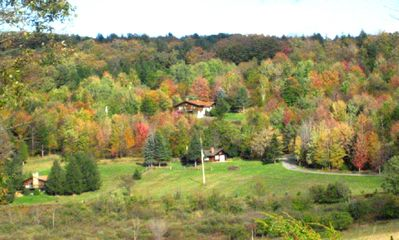 Fall View from Horse Farm to House