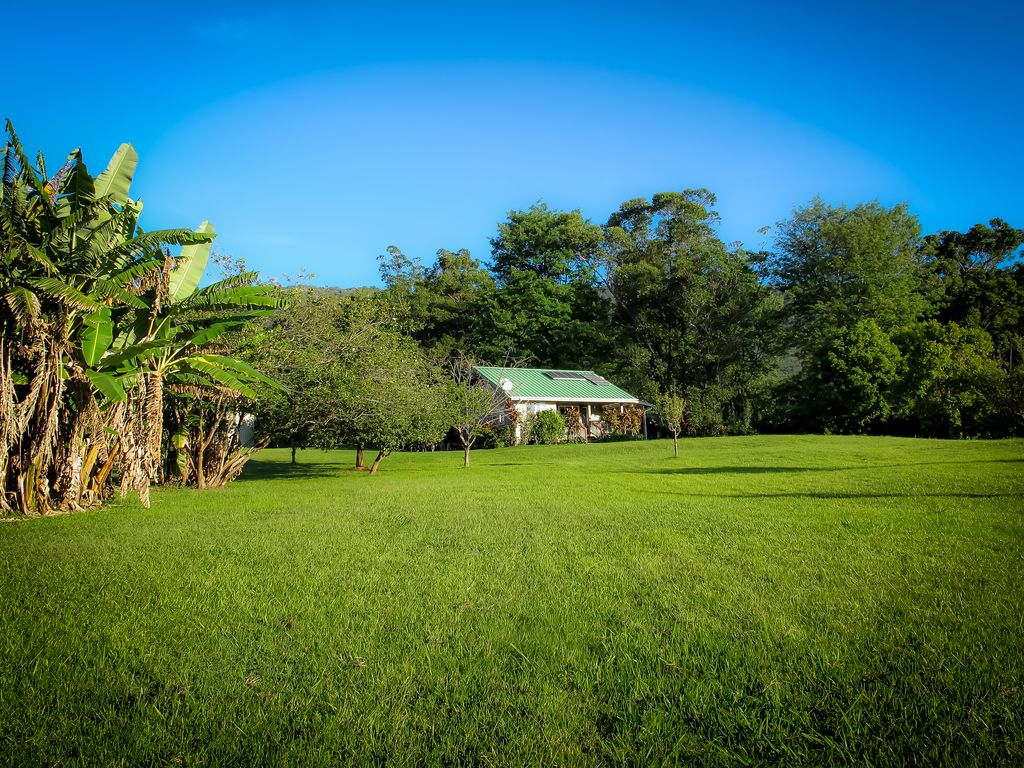 Very private with 8 acres to call your own but open and inviting.