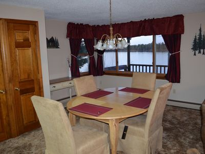 Dining Room with stunning views of the lake.