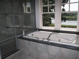 Sag Harbor house photo - Master Bath w/Jacuzzi Tub & Double Shower