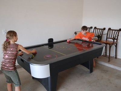 We have air hockey and foosball tables  - great for kids of all ages from 2 -92