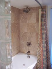 Forest Beach villa photo - Master Bathroom - Shower; Whirlpool tub; Glass block wall
