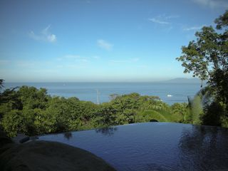 Puerto Vallarta villa photo - The infinity pool at Villa La Roca with view out over Banderas Bay.