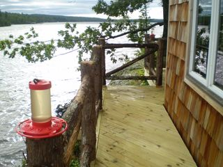 Lake Medora cottage photo - Deck looking west - humming birds abundant in season, often three or four
