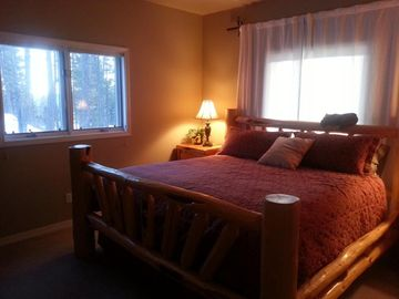 In Suite #3, a plush king bed sounds good after hiking Glacier Park.