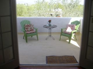 Tucson studio photo - The Balcony: Perfect place for cofee, tea, or wine
