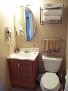 Bathroom, upstairs with stall shower