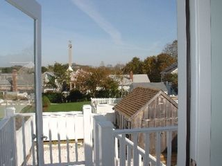 Provincetown condo photo - View of monument from bedroom deck