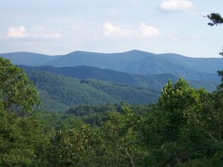 Blue Ridge cabin photo - Tuckaway Ridge's Year Round View (taken right from the deck)