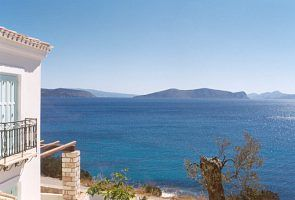 Porto Heli villa rental - View from the coast to the lovely island of Hydra