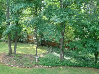Atlanta house rental - Private fenced in backyard - picture from back deck.