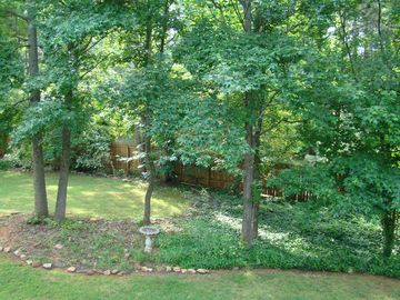 Private fenced in backyard - picture from back deck.