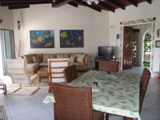 Bonaire house photo - Enjoy a meal or relax on the sofa while viewing TV or listening to favored tunes