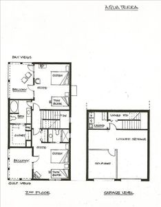 Second Floor & Garage Level Floor Plan