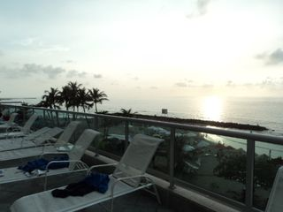 Bocagrande apartment photo - sunset from pool area