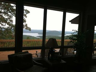 Greers Ferry Lake house rental - View from our Dining Room