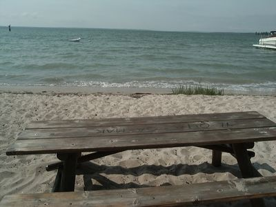 Picnic table at the beach