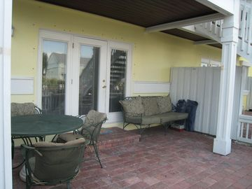 Patio dining and sofa area