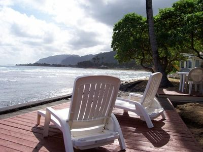 Beachfront decks at Hale Koolau