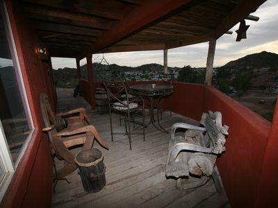 One of three Patio or Decks at The Ranchero