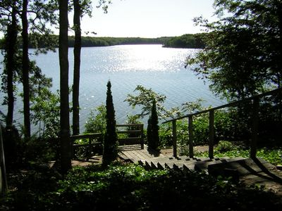 Mashpee house rental - Path down to the lake