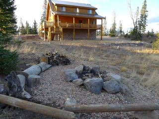 Brian Head cabin photo - Fire pit is just perfect for campfire stories or roasting s'mores.