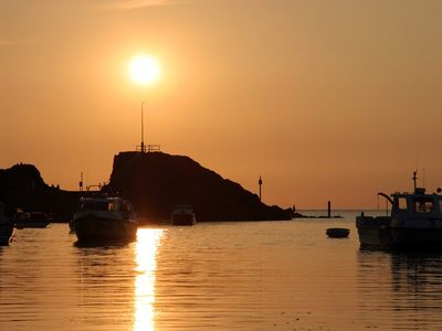 Bude house rental - Barrel Rock on a calm evening