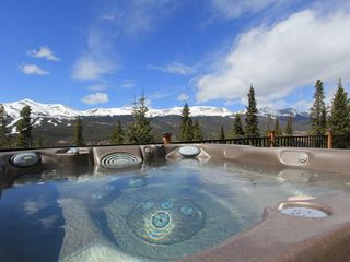 Breckenridge house photo - The view from the hot tub. We can't think of a better way to end the day.