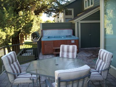 Eagle Crest condo rental - Deck and hot tub