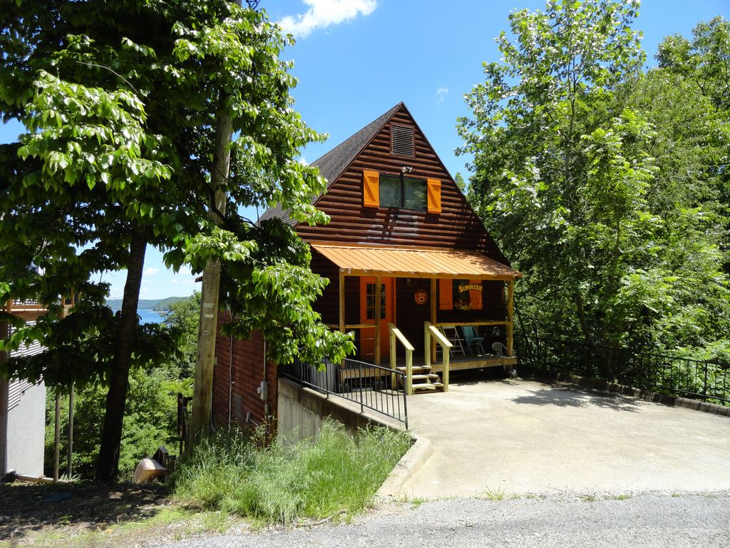 sunrise cabin is a tri level lakefront cabin vrbo