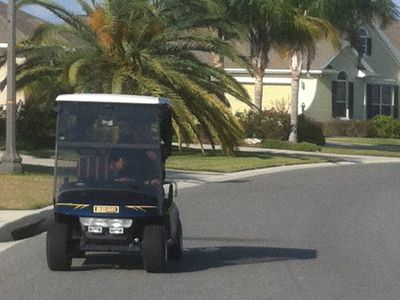 Mode of transportation in the Villages 2 seater golf cart