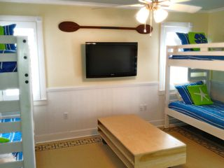 Crystal Beach house photo - Bunk Room: NEW HD Flat panel TV and Xbox!