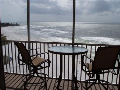 Siesta Key condo rental - The view of beautiful Crescent Beach from our balcony unit #1102