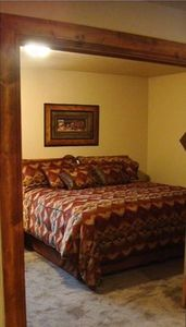 Loft King Size Bed - bedroom also has matching twin daybed - room sleeps 4